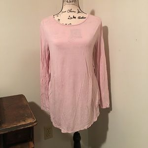 Old Navy Long Sleeve Pink Top Size M